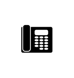 Telephone contact phone of icon the support vector