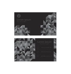 Template of a modern business card for business vector