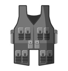 Vest icon gray monochrome style vector