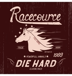 Vintage label with horse vector