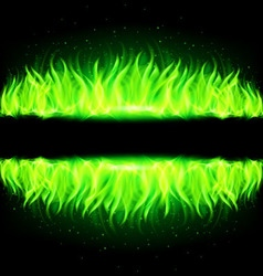 Wall of Fire Green 02 vector