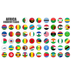 Web buttons with africa country flags flat vector