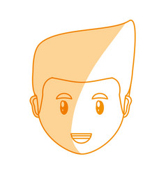 Young man face cartoon vector