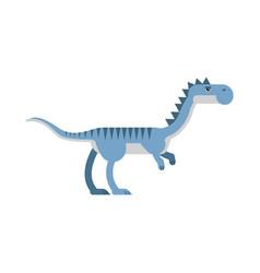 cute cartoon blue velyciraptor dinosaur vector image
