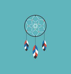 dream catcher of native american icon vector image