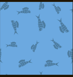 fresh fish seamless pattern vector image vector image