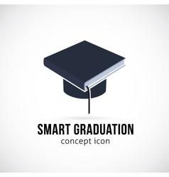 Smart graduation concept icon symbol or logo vector