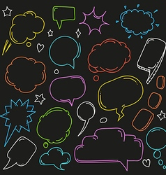 Background of abstract talking bubbles Set of vector image vector image