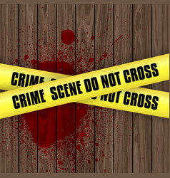 blood splattered crime scene background vector image vector image