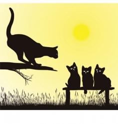cat school vector image vector image