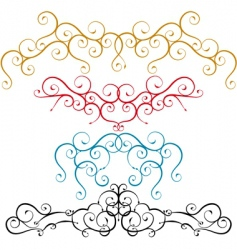curves in combination vector image vector image