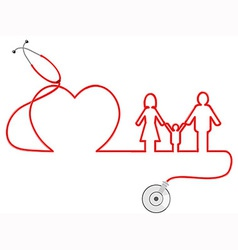 family Healthcare vector image vector image