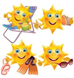 Fun sun on vacation vector image vector image