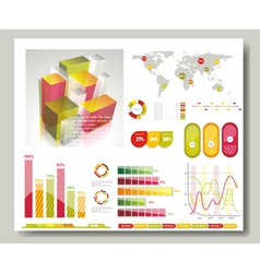 Map and Graphs vector image vector image