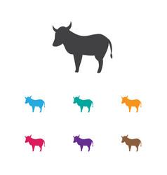 of animal symbol on kine icon vector image vector image