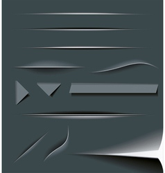 Paper Cut Dividers vector image vector image