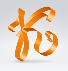 Silk ribbon letter abc vector image vector image
