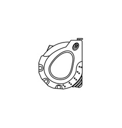 sketch silhouette closed tape measure icon vector image vector image
