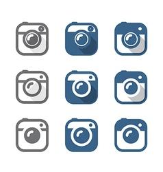 Vintage photo camera icons clipart Minimalism conc vector image