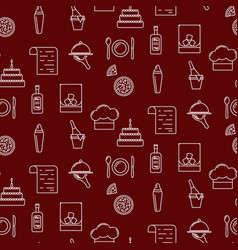 bar line icon seamless red pattern vector image