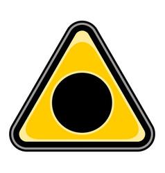black hole sign triangular sticker vector image vector image