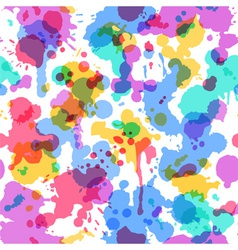 Bright watercolor seamless pattern on white vector image vector image