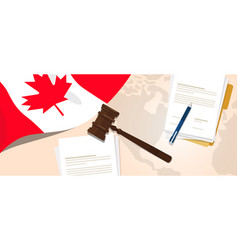 canada law constitution legal judgment justice vector image vector image