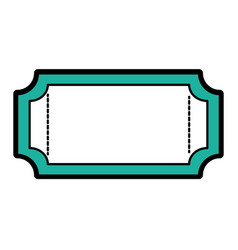 isolated ticket design vector image