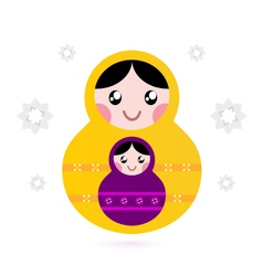 Matryoshka dolls vector