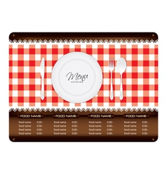 Menu Woode Sign vector image