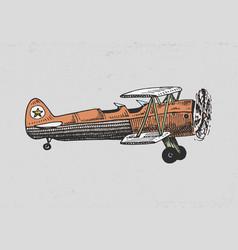set of passenger airplanes corncob or plane vector image