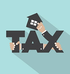 Home Tax Typography Design vector image
