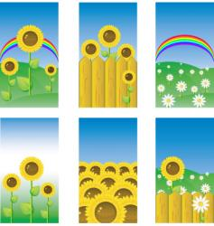 sunflower banners vector image vector image