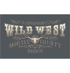Wild west rodeo vector