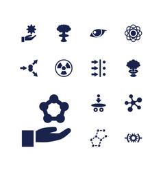 13 atom icons vector image