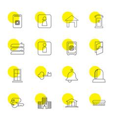 16 door icons vector image