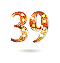 39 years anniversary celebration logotype vector image