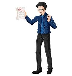 A male teacher vector