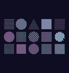 abstract pattern set with chromatic aberration vector image