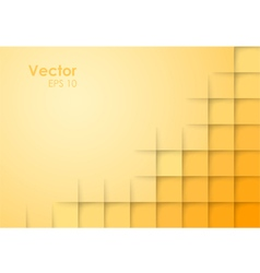 Abstract square orange background vector