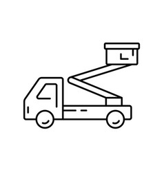 Aerial platform icon linear logo truck vector