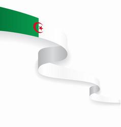 Algerian flag wavy abstract background vector