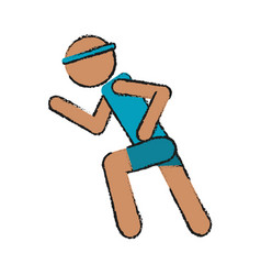 athlete icon image vector image
