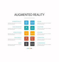 Augmented reality infographic 10 option concept vector