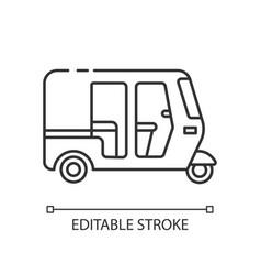 Auto rickshaw pixel perfect linear icon vector