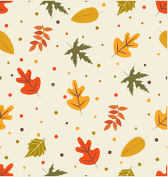 autumn with leaf pattern vector image