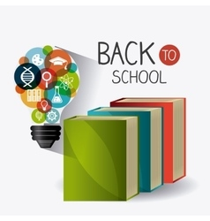 Back to school season design vector
