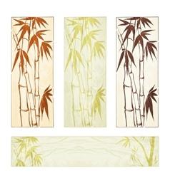 Bamboo banner set vector image