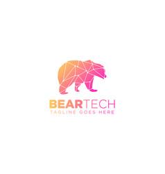 Bear geometric logo design icon element vector