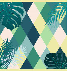 Beautifil palm tree leaf silhouette backgroun vector